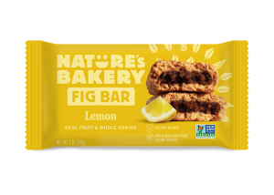 Nature's Bakery Fig Bars Reviews and Info - Dairy-free, nut-free, soy-free, vegan, and made from stone ground whole wheat - real ingredients. Pictured: Lemon
