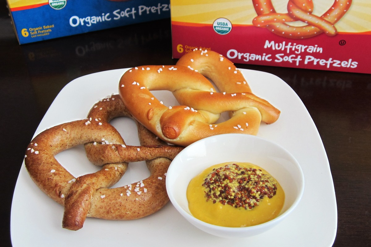 Rudi's Organic Bread Products Reviews - Including Tortillas, Soft Pretzels, English Muffins, and Hamburger Buns - all dairy-free and nut-free!