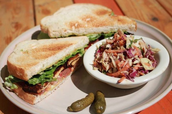 Bouldin Creek Cafe - The Wanna-BLT with Asian cole slaw