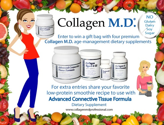 Collagen MD Giveaway - An entire collection of health & wellness supplements for skin, joints, and connective tissue. All Dairy-Free, Gluten-Free, Soy-Free AND Sugar-Free