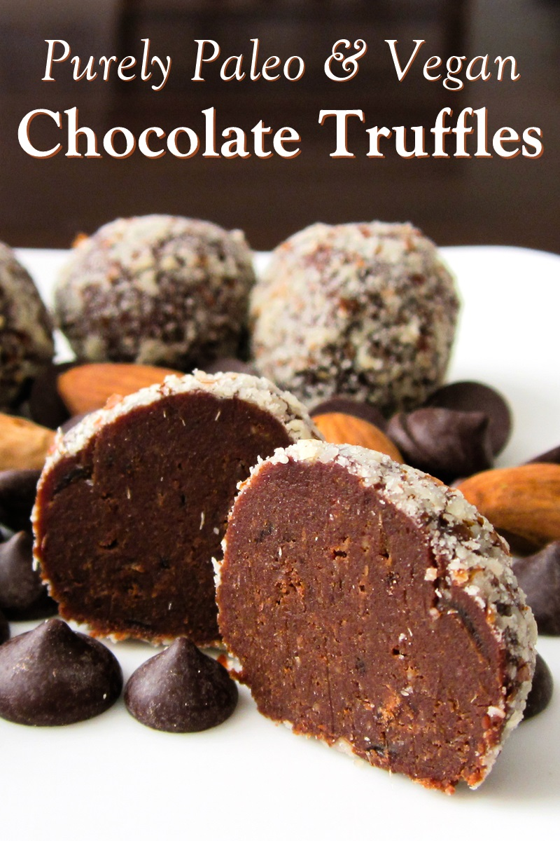 Healthy Chocolate Truffle Snacks Recipe - Dairy-free, gluten-free, vegan, paleo, and nutritious + 5 health reasons to love dark chocolate