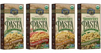 Lundberg Brown Rice Pasta and Sauce Mixes - Gluten-Free, Dairy-Free, Vegan, Certified Organic, Non-GMO Verified