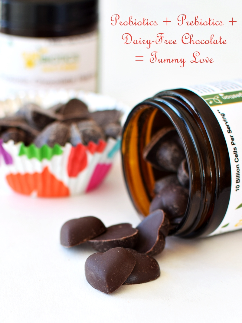 Sunbiotics Chocolate Hearts - Probiotics + Prebiotics = Tummy Love (Sunbiotics Chocolate Hearts)