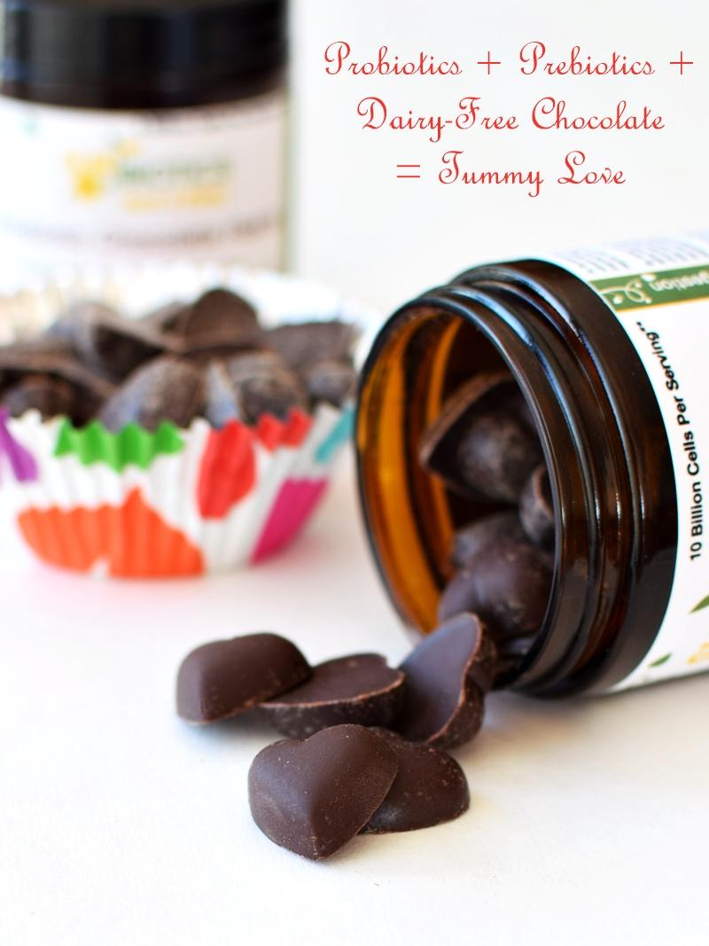 Sunbiotics Chocolate Hearts - Probiotics + Prebiotics = Tummy Love  (Sunbiotics Chocolate Hearts)