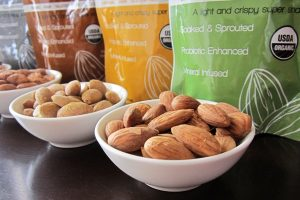 Sunbiotics Organic Sprouted Probiotic Almonds: Made with Sprouted Almonds: Available in 4 Vegan Flavors: Cheesy, Truffle, Chocolate, and Original