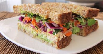 Sensational Tahoe Crunch Sandwich - A healthy lunch delight with fresh crunchy vegetables. #dairyfree + optionally #glutenfree and/or #vegan via @godairyfree