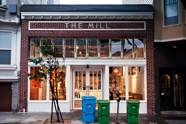 The Mill in San Francisco is a joint venture between Josey Baker Bread and Four Barrel Coffee. They offer many dairy-free and vegan delights!