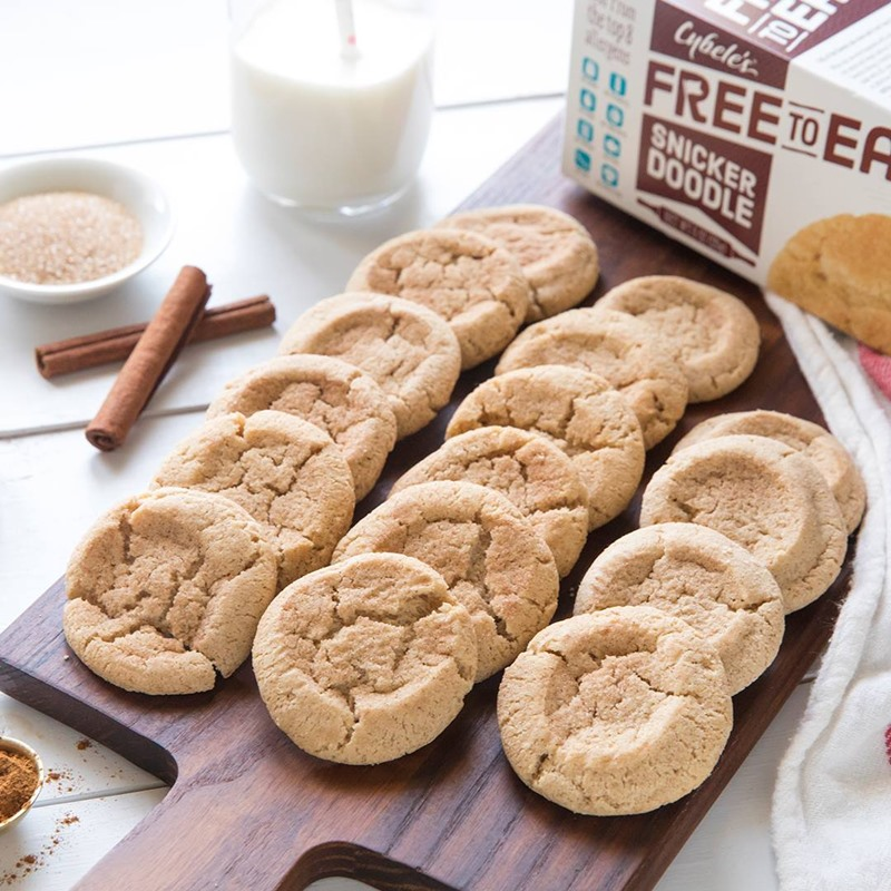 Cybele's Free to Eat Cookies Reviews and Info - Gluten-Free, Dairy-Free, Egg-Free, Nut-Free, Soy-Free Cookies that are Chewy and taste just like Homemade! Pictured: Snickerdoodle