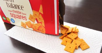 Earth Balance Vegan Cheddar Flavor Squares - Review and Info - Like Dairy-Free Cheez-Its