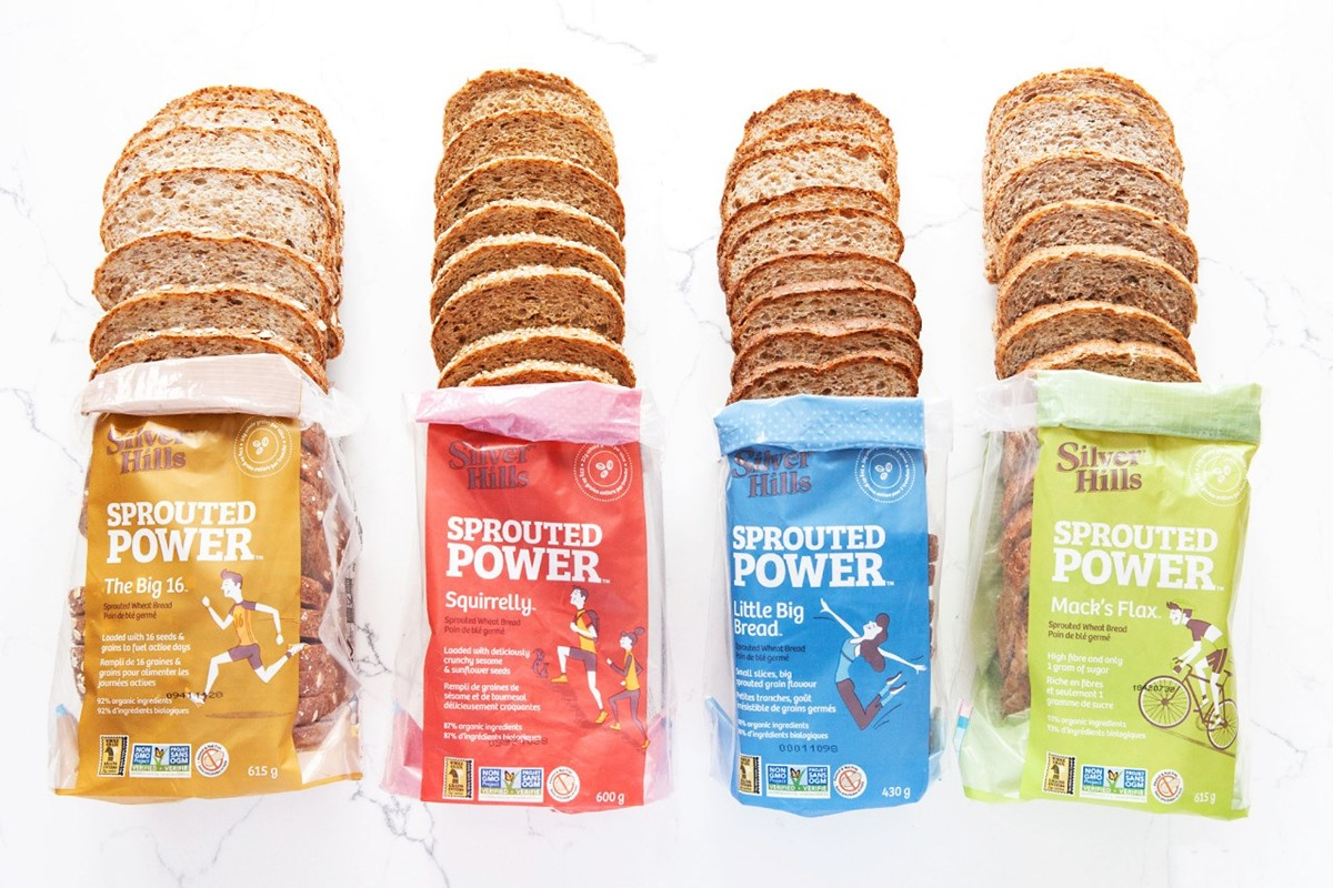 Silver Hills Bakery Reviews and Info - Sprouted, Whole Grain, dairy-free, egg-free, vegan, nut-free, peanut-free bread made in their own bakery. US and Canada.