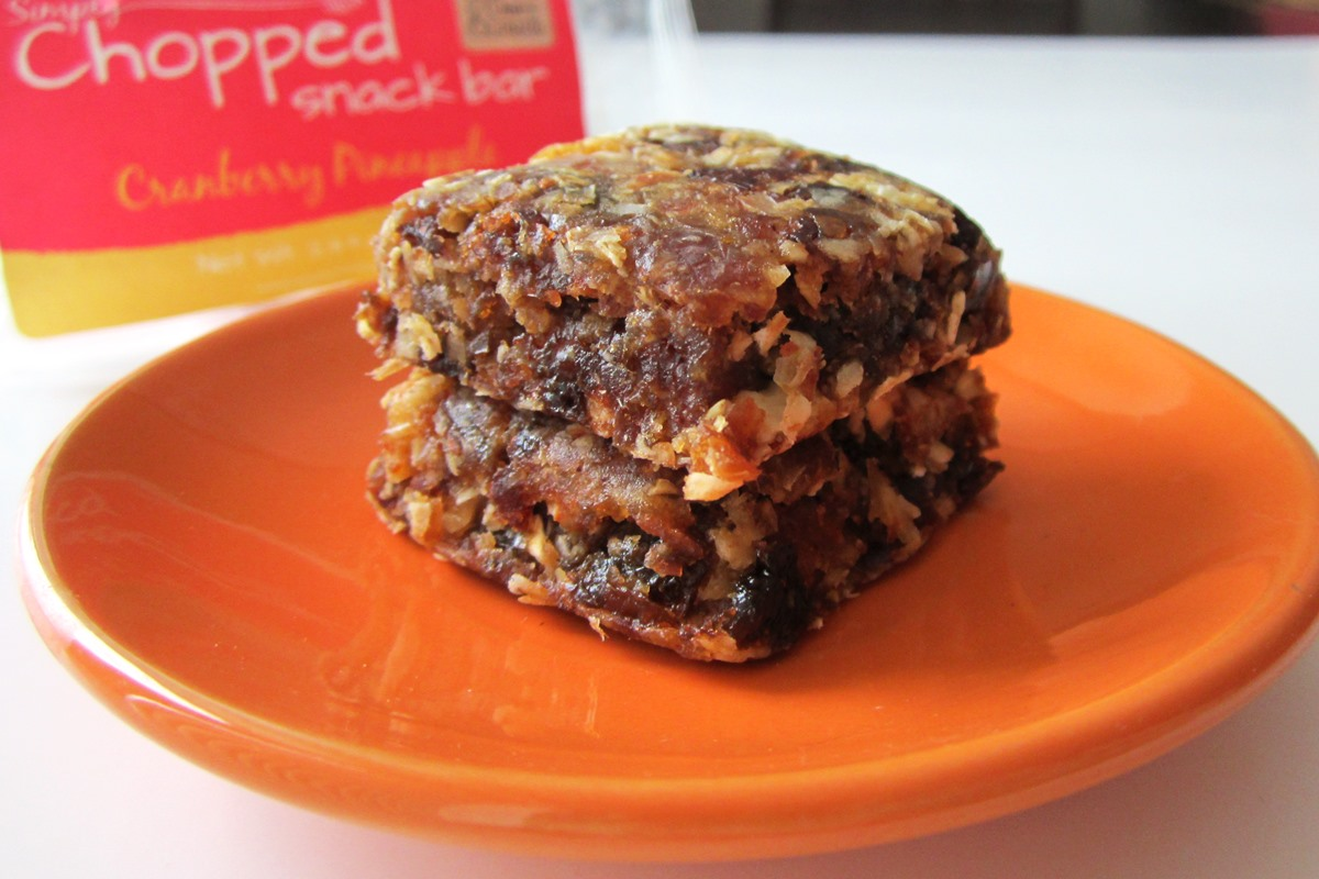 Simply Chopped Snack Bars Reviews and Info - Gluten-Free, Dairy-Free, All Natural, Healthy, and Like Homemade! Several flavors.