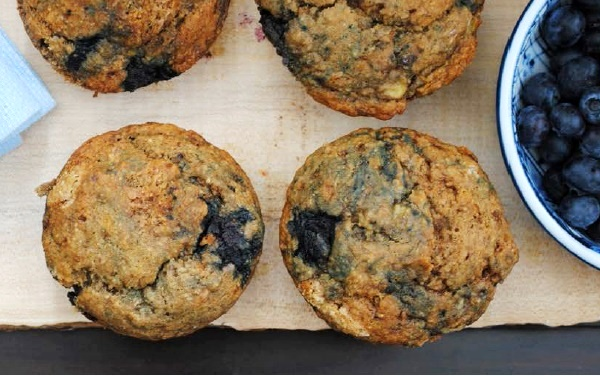 Blueberry Banana Muffins Recipe from Berrylicious, a collection of dairy-free, gluten-free, and vegan berry delights!