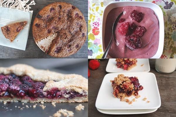 Berrylicious - Raspberry Crumble Cake, Raspberry Frozen Yogurt, Strawberry Oat Squares, Rustic Raspberry Galette (all gluten-free, dairy-free, and vegan!)
