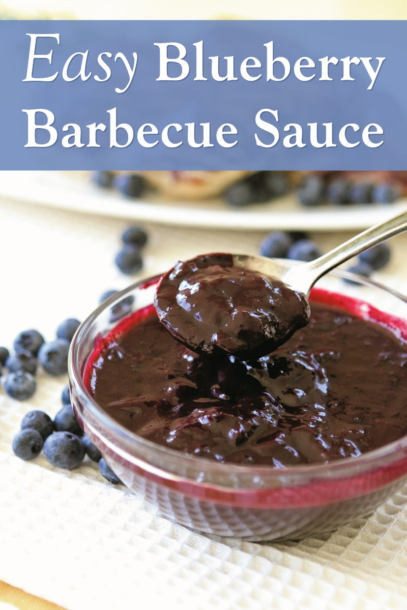 Blueberry Barbecue Sauce Recipe - great for summer! Naturally dairy-free, gluten-free, nut-free, soy-free, vegan, and plant-based.