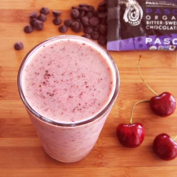 Cherry Chocolate Chip Shake - A Creamy, Healthy, Dream! (naturally dairy-free, soy-free, and vegan)