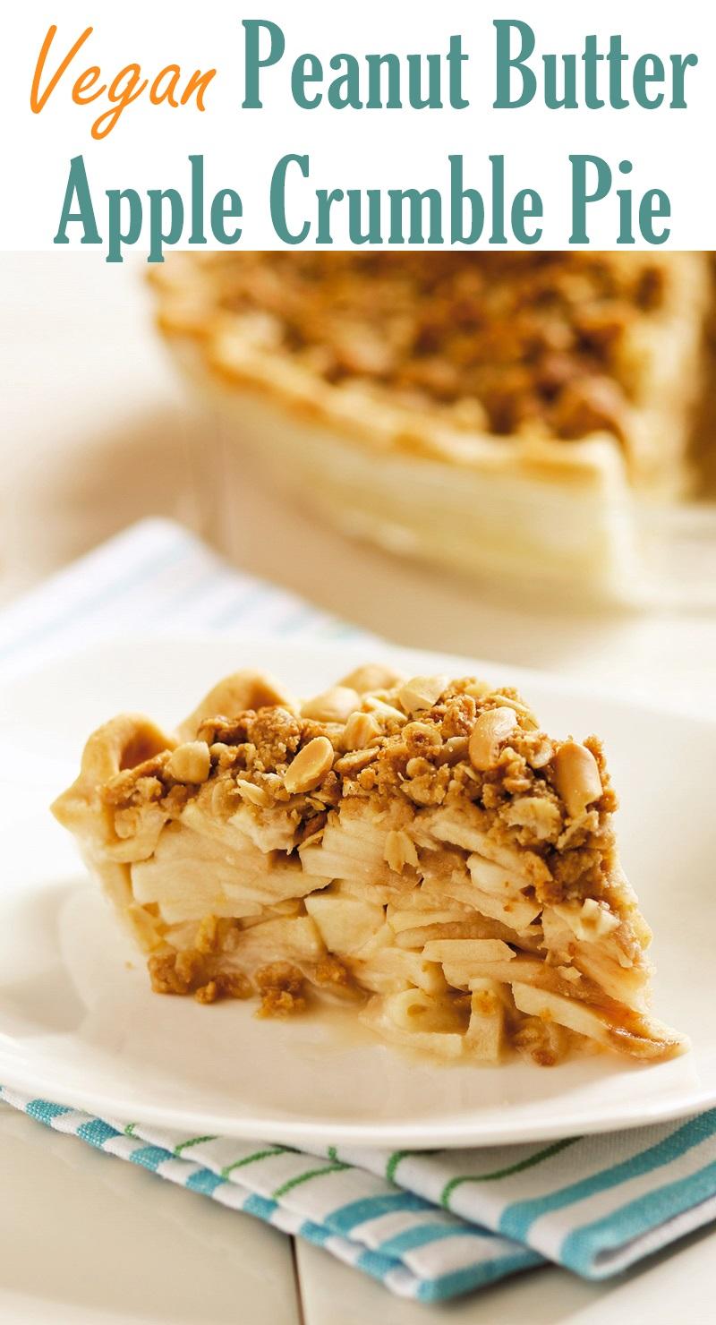 Vegan Peanut Butter Apple Crumble Pie Recipe