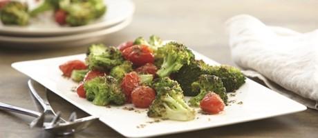 Garlic Roasted Broccoli and Tomatoes