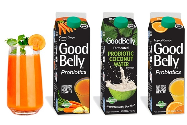 GoodBelly Probiotic Juice Drinks (Vegan, dairy-free, soy-free, gluten-free)