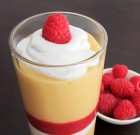 Dreamy Papaya Mango Milkshake with Fresh Raspberry Puree