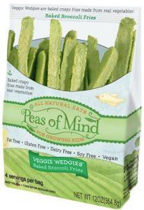 Peas of Mind Veggie Wedgies - Healthy Vegetable Fries for Kids (gluten-free, dairy-free, vegan, allergy-friendly)