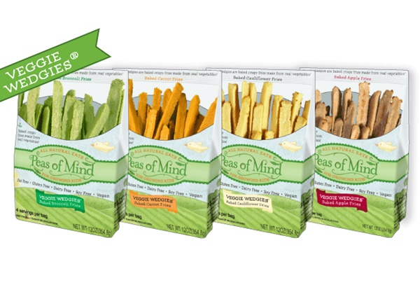 Peas of Mind Veggie Wedgies - Healthy Vegetable Fries for Kids (gluten-free, dairy-free, vegan, allergy-friendly)