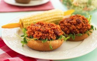 Quinoa Sloppy Joes from Plant Power: This easy, delicious, nutritious and flavorful recipe is naturally dairy-free and vegan! Includes a gluten-free option.