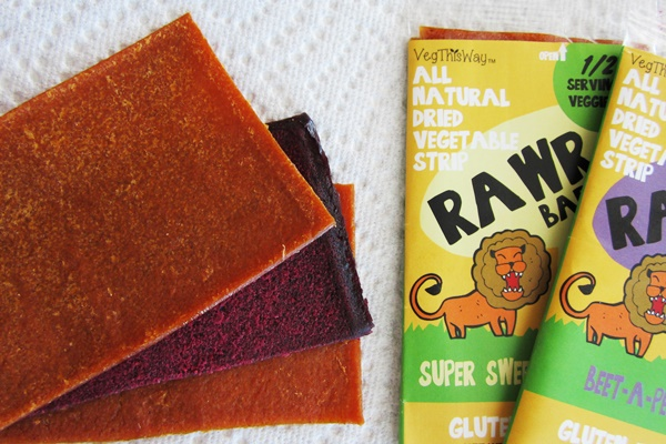 Rawr Bars: Dried Vegetable and Fruit Strips - Super Sweet Potato and Beet-A-Peel