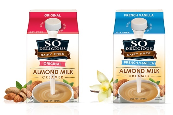The Full Guide to Dairy Free Coffee Creamer: Vegan-friendly with soy-free options (So Delicious Dairy Free Almond Milk Creamers pictured)