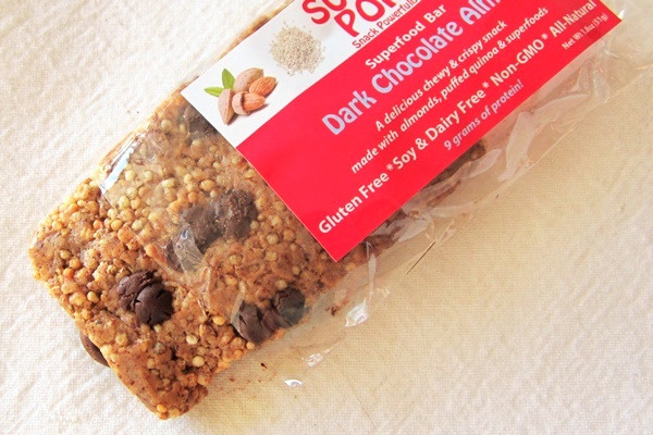 Super Pop! Superfood Snack Bars - Dark Chocolate Almond with Puffed Quinoa