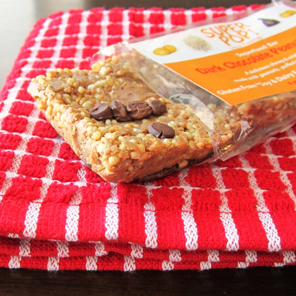 Super Pop! Superfood Snack Bars - Dark Chocolate Peanut Butter with Puffed Quinoa