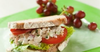 Tarragon Chicken Salad Sandwiches Recipe - #dairyfree via @GoDairyFree