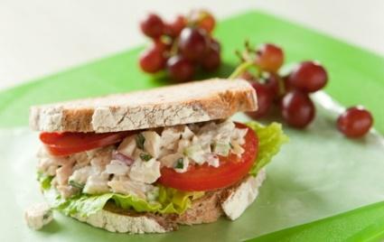 Tarragon Chicken Salad Sandwiches Recipe - #dairyfree via @GoDairyFree