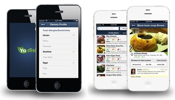 Top Restaurant Apps (Food Allergies, Gluten-Free, Vegan, Paleo) - YoDish