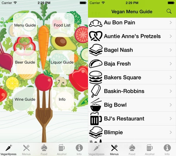 Top Restaurant Apps (Vegan) - Vegan Xpress