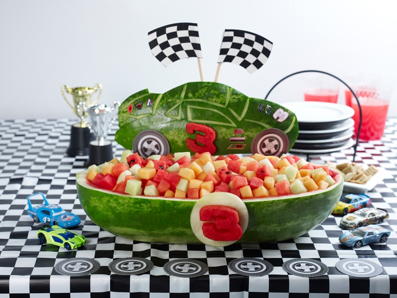 Dairy-Free Watermelon Recipes, Information and Carving Ideas (Nascar shown)