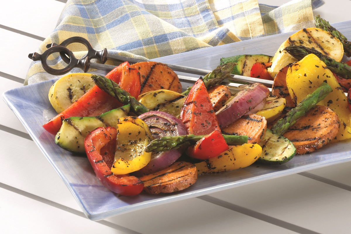 Easy Garlic and Herb Mixed Vegetable Grill Recipe (vegan, dairy-free, gluten-free, paleo)