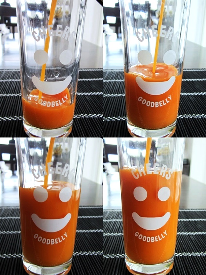 GoodBelly Probiotic JuiceDrinks - 20 Billion CFUs per Cup - Dairy-Free, Soy-Free, Vegan. Pictured: Pouring