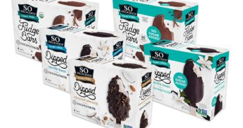 So Delicious Coconut Milk Ice Cream Bars Reviews and Info. Dairy-Free, Gluten-Free, Vegan. Pictured: All varieties