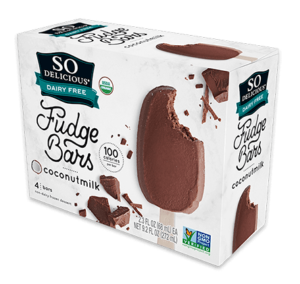So Delicious Coconut Milk Ice Cream Bars Reviews and Info. Dairy-Free, Gluten-Free, Vegan. Pictured: Fudge Bars