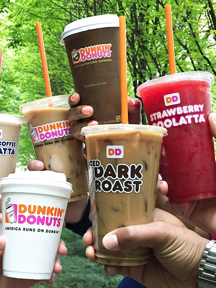 Dunkin' Donuts offers ample dairy-free and vegan beverages with Almond Breeze almond milk available at all locations.