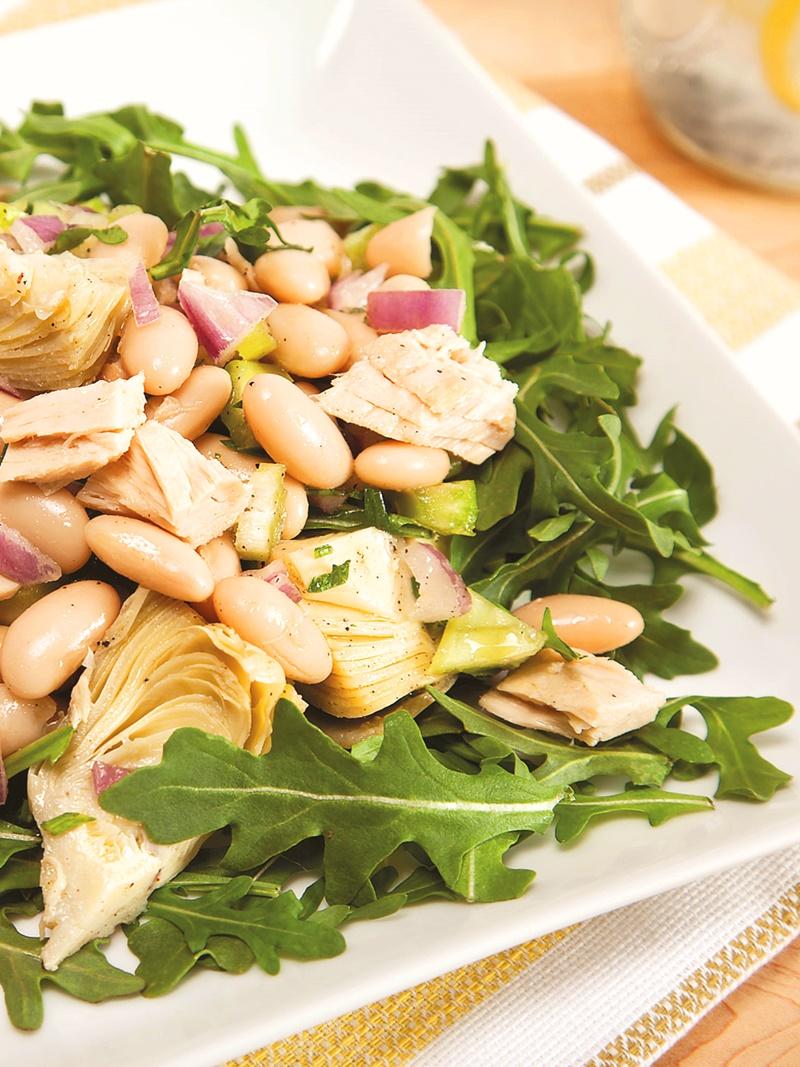 White Bean and Artichoke Tuna Salad Recipe - dairy-free, gluten-free, easy!