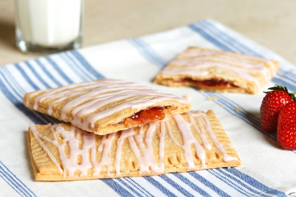 Peanut Butter and Jelly Breakfast Tarts - Better than Pop Tarts! Recipe is vegan and dairy-free.