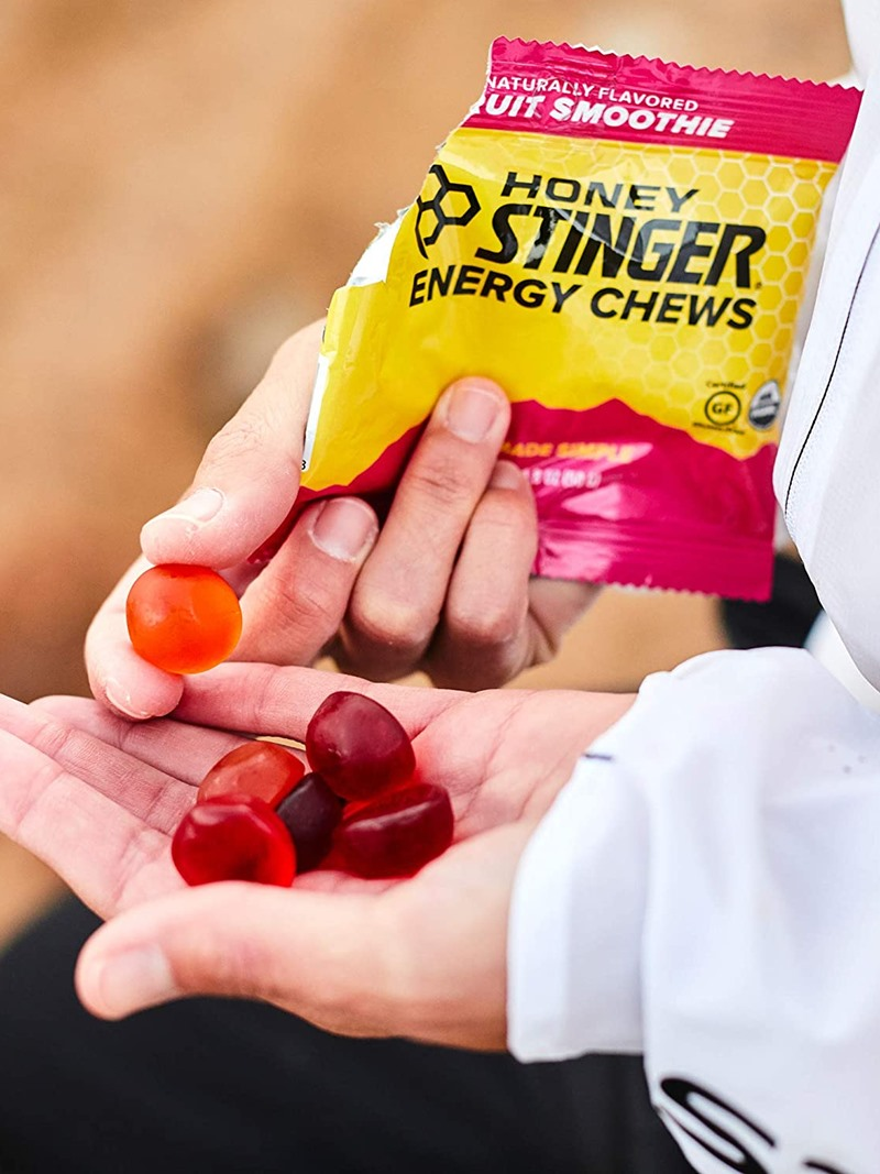 Honey Stinger Energy Chews and Performance Chews Reviews and Info - sustainable carbs, electrolytes, and caffeinated options. All without dairy, gluten, eggs, nuts, or soy.