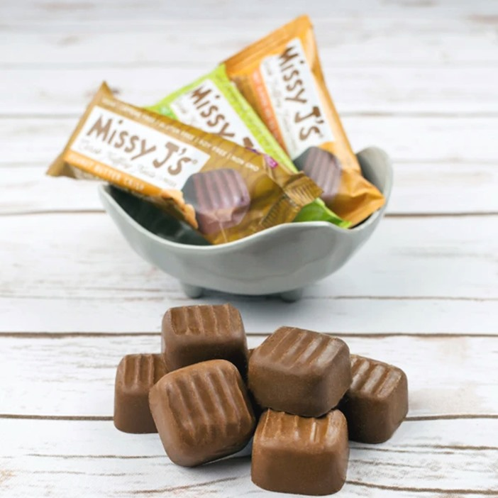 Missy J's Carob Truffley Treats are vegan, gluten-free, soy-free, chocolate-free, caffeine-free, refined sugar-free truffles in 3 flavors. Pictured: Variety