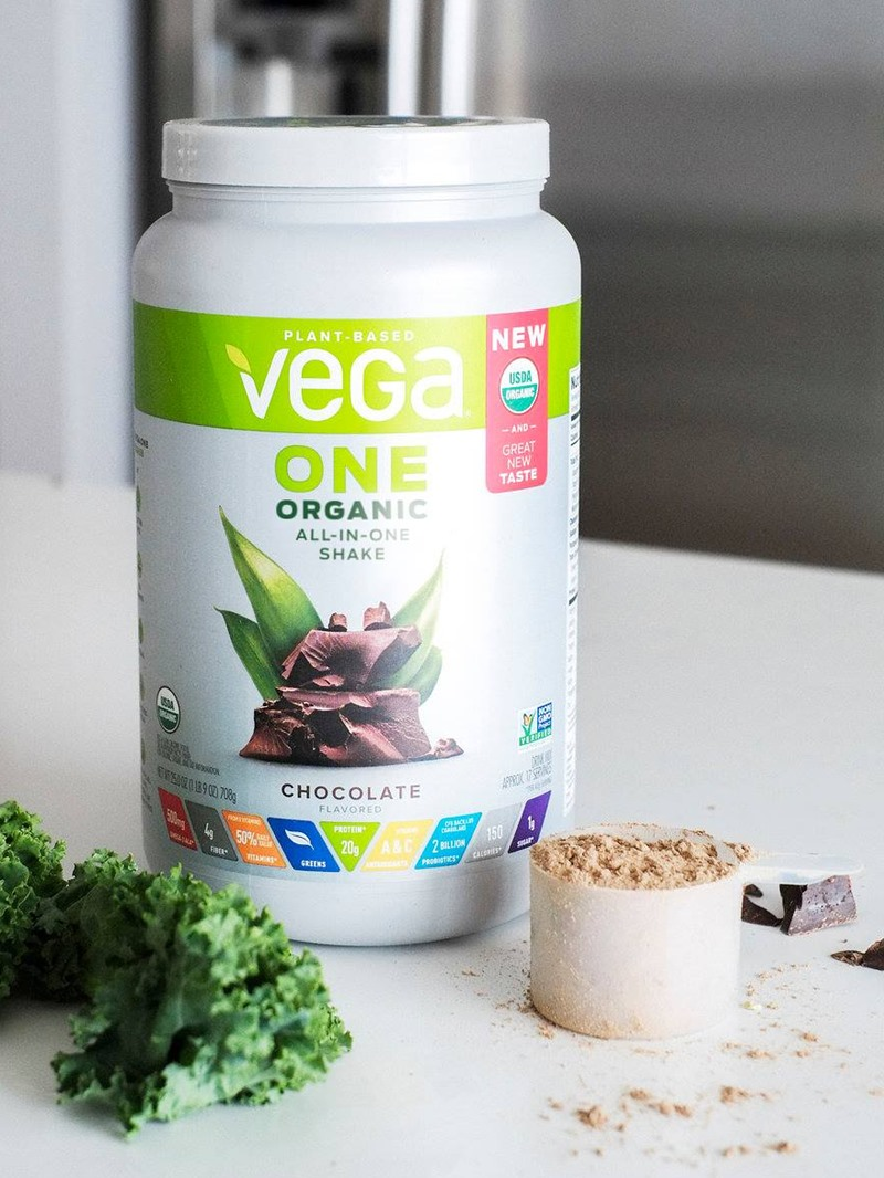 Vega One Organic All in One Shakes Reviews and Info - plant based and dairy-free - high in protein, greens, vitamins, and minerals. Also rich in probiotics, prebiotics, digestive enzymes and Omega 3s. Vega's Best Seller.
