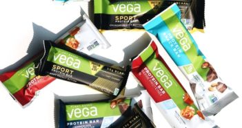 Vega Protein Bars in Snack, 20g, and Sport Varieties. Reviews, ingredients, availability, etc. All vegan, gluten-free, and dairy-free. Pictured: Variety