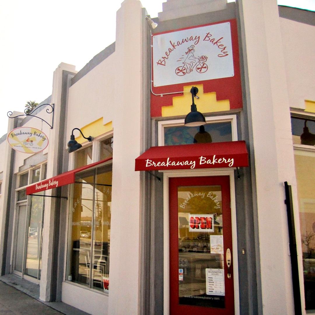 Breakaway Bakery in Los Angeles is  free of: Gluten, Dairy, Peanuts, Soy,Treenuts, and Gums.