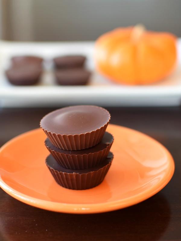 Chocolate Pumpkin Butter Cups  (gluten-free + dairy-free)