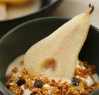 Creamy Coconut Poached Pears with Star Anise