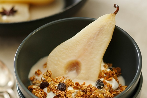 Creamy Coconut and Star Anise Poached Pears